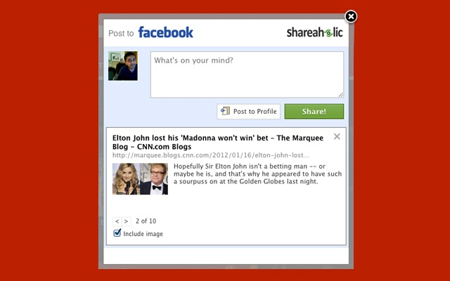 facebook share extension