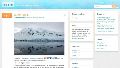 helicon-blogger-template