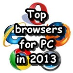 Top internet _browser for PC in 2013