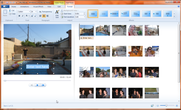 Microsoft Windows Live Movie Maker Vista
